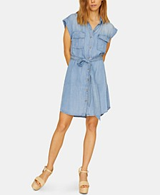 Dusty Sleeveless Shirtdress