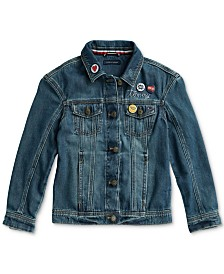Tommy Hilfiger Adaptive Little and Big Girls' Springfield  Denim Jacket with Magnetic Closures