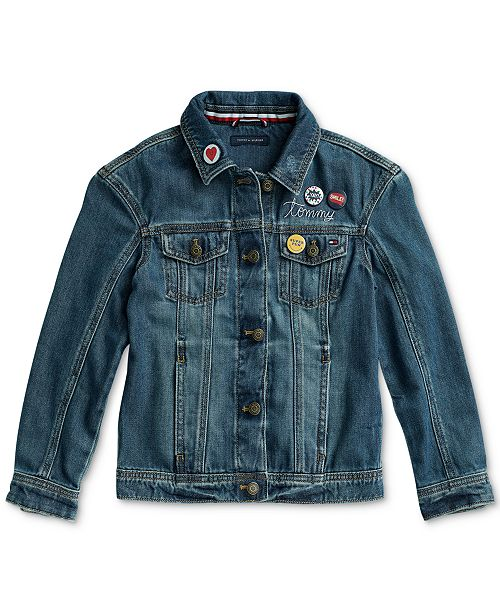 538c29569 Little and Big Girls' Springfield Denim Jacket with Magnetic Closures