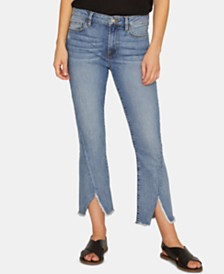 Sanctuary Connector Frayed-Hem Capri Jeans