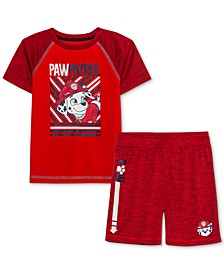 Little Boys PAW Patrol Hero Ready 2-Pc. T-Shirt & Shorts Set