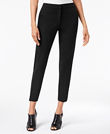 Twill Skinny Ankle Dress Pants