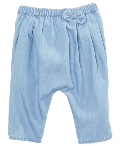 First Impressions Baby Girls Cotton Chambray Capris, Created for Macy's
