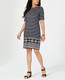 Medallion Striped Dress, Created for Macy's