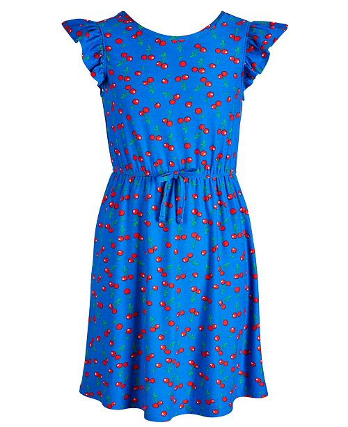 Epic Threads Big Girls Cherry-Print Dress, Created for Macy's