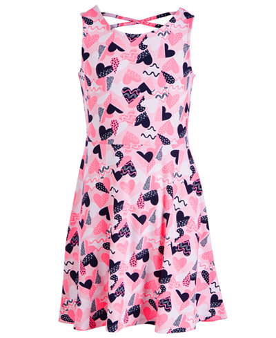 Epic Threads Big Girls Pink Lady Skater Dress, Created for Macy's
