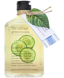 The Cottage Greenhouse Cucumber & Honey Body Wash, 11.5-oz.