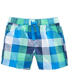 First Impressions Toddler Boys Cotton Plaid Shorts, Created for Macy's