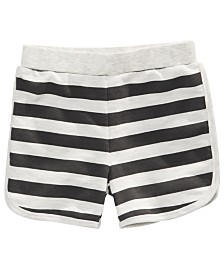First Impressions Toddler Boys Striped Knit Shorts, Created for Macy's