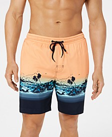 "Men's Tropical Quick-Dry 7"" Swim Trunks, Created for Macy's"