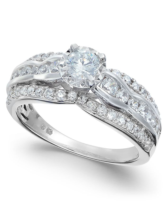 Macy's - Diamond Open Setting Engagement Ring (1 ct. t.w.) in 14k White Gold