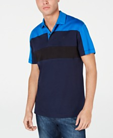 DKNY Men's Colorblocked Interlock Polo