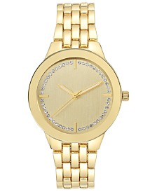 I.N.C Women's Gold-Tone Mixed-Metal Bracelet Watch 34mm, Created for Macy's