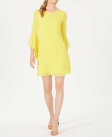 I.N.C. Bell-Sleeve Dress, Created for Macy's