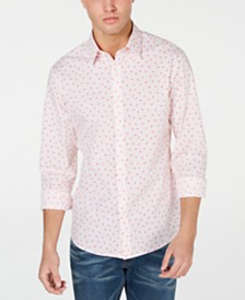 Michael Kors Men's Amos Slim-Fit Stretch Floral Dot Shirt