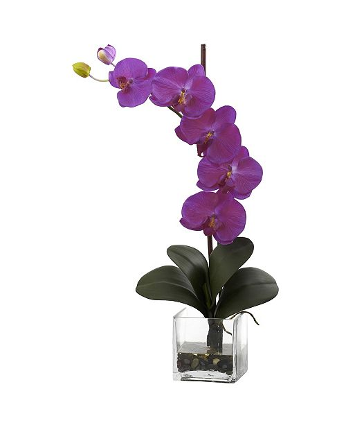 Nearly Natural Giant Phalaenopsis Orchid w/Vase Arrangement