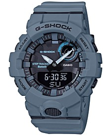 Men's Analog Digital Step Tracker Gray-Blue Resin Strap Watch 48.6mm