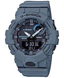 G-Shock Men's Analog Digital Step Tracker Gray-Blue Resin Strap Watch 48.6mm
