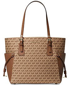 Jacquard Signature Voyager East West Tote
