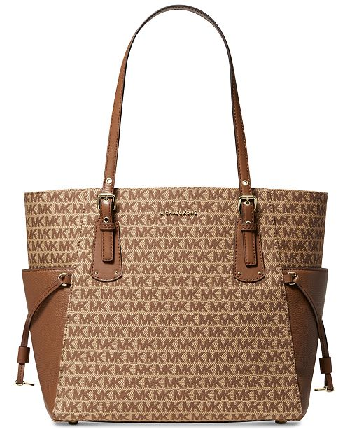 Michael Kors Jacquard Signature Voyager East West Tote