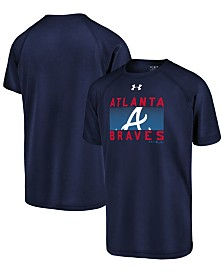 Under Armour Big Boys Atlanta Braves Logo Tech T-Shirt