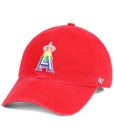 '47 Brand Los Angeles Angels Pride CLEAN UP Strapback Cap