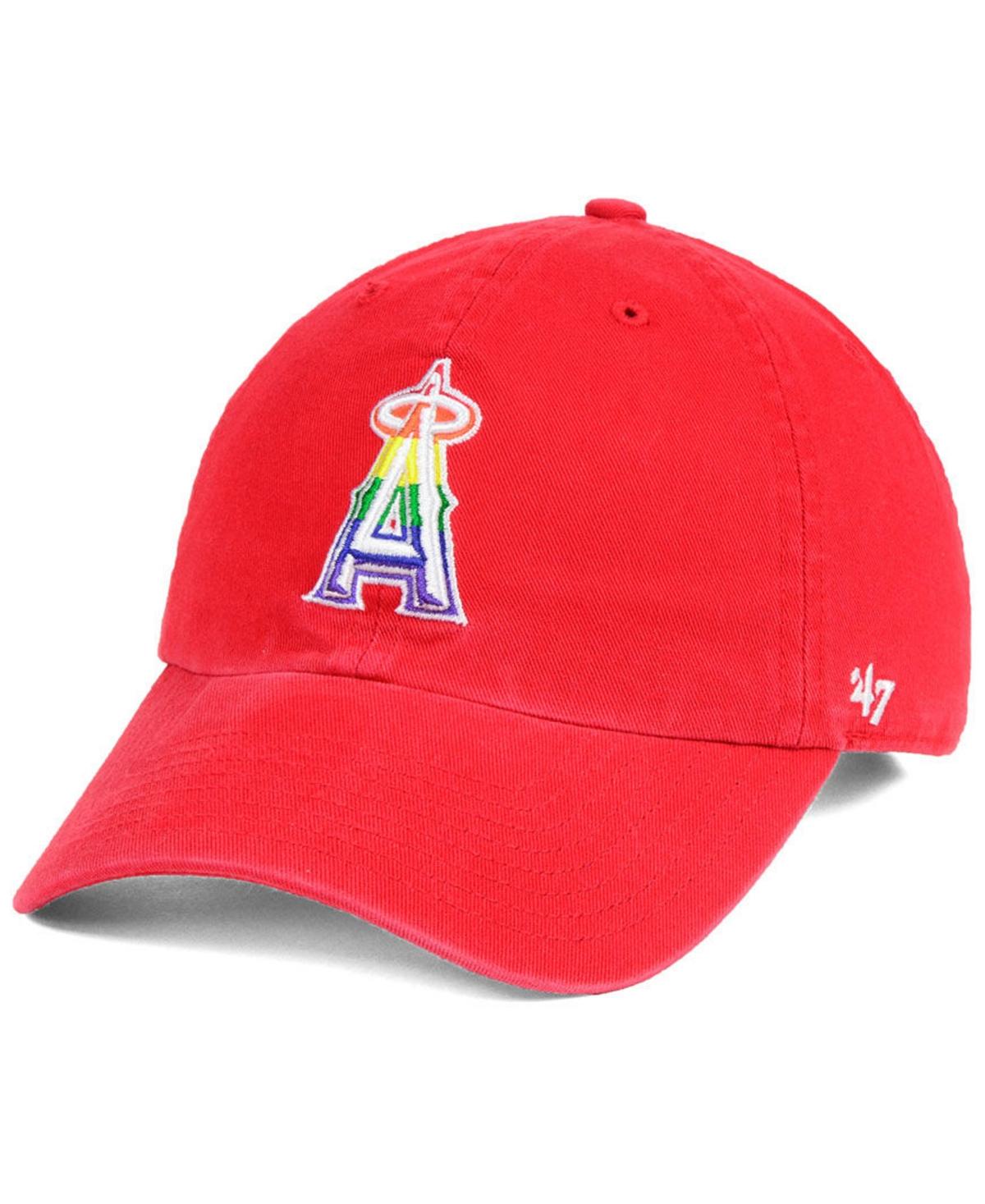47 Brand Los Angeles Angels Pride Clean Up Strapback Cap