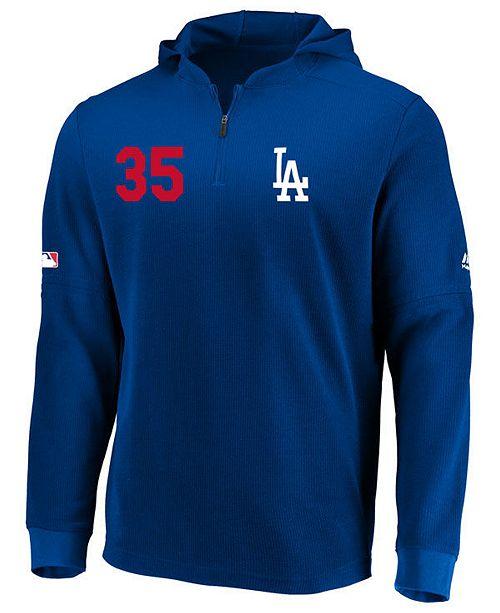 Majestic Men's Cody Bellinger Los Angeles Dodgers Authentic Batting Practice Waffle Hoodie