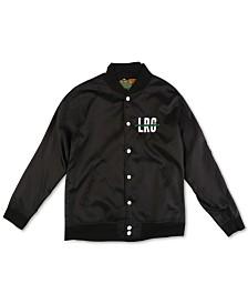 LRG Men's Logo Graphic Bomber Jacket