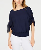ecb4512ba921 MICHAEL Michael Kors Petite Tie-Sleeve Top, in Regular & Petite