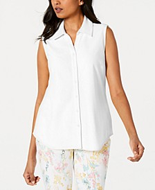 Petite Cotton Shirt, Created for Macy's