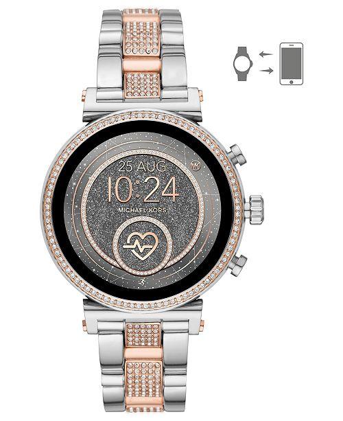 f5456e6fa63 ... Michael Kors Access Women s Sofie Heart Rate Two-Tone Stainless Steel  Bracelet Touchscreen Smart Watch ...