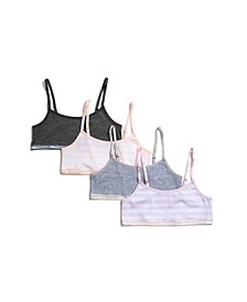Tahari Girl 4-Pack Striped Bra