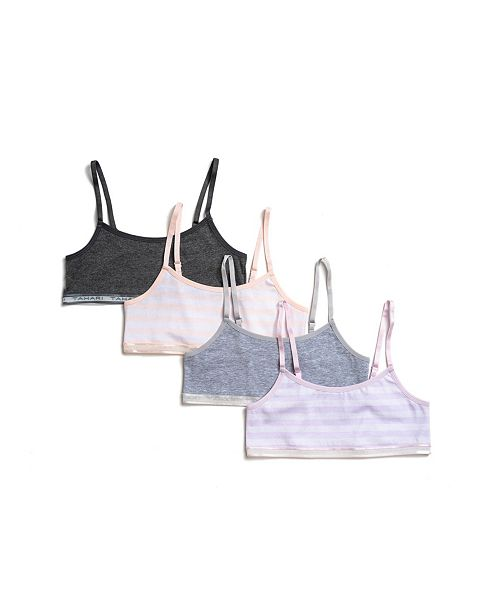 Tahari Girls Tahari Girl 4-Pack Striped Bra