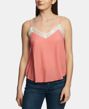 1.state Tops LACE-TRIM V-NECK CAMI TOP