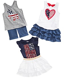 Epic Threads Little Girls Graphic-Print Tops, Tiered Skirts & Bermuda Shorts, Created for Macy's