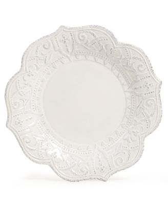 Blanc Amelie Scalloped Dinner Plate