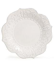 Maison Versailles Blanc Amelie Scalloped Dinner Plate