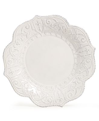 Maison Versailles Blanc Amelie Scalloped Dinner Plate - Dinnerware - Dining & Entertaining - Macy's
