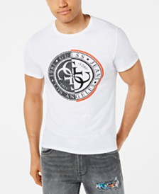 GUESS Men's Mesh Stamp Logo Graphic T-Shirt