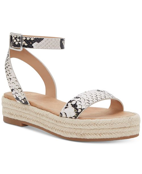 INC International Concepts I.N.C. Women's Valetta Woven Flatform Espadrilles, Created for Macy's