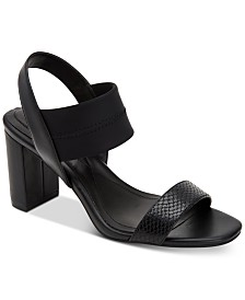 Alfani Women's Fllip Neoprene Dress Sandals, Created for Macy's