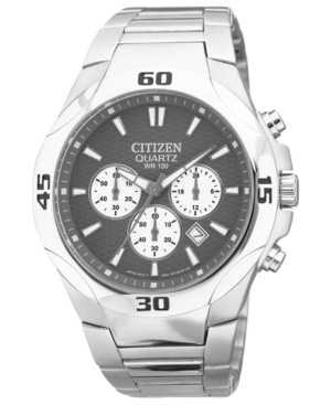Citizen Men's Chronograph Quartz Stainless Steel Bracelet Watch 42mm AN8020-51H