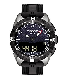 Men's T-Touch Expert Solar II Antimagnetic Black Strap Watch 45mm