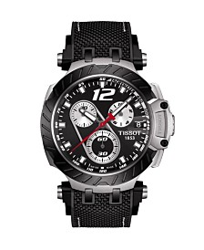 Tissot Men's T-Race Thomas Luthi 2019 Swiss Automatic Limited Edition Black Rubber Strap Watch 47.6mm