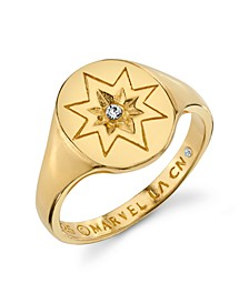 Star Signet Ring in Sterling Silver for Unwritten