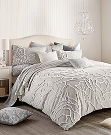 Home Chenille Rose Full/Queen Comforter Set