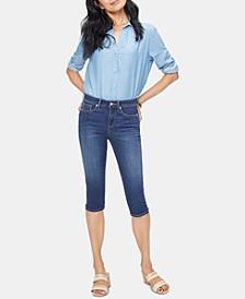 Tummy-Control Skinny Capri Jeans