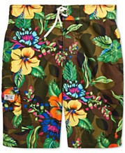 c0bf1b9174 Polo Ralph Lauren Big Boys Kailua Floral-Print Swim Trunks