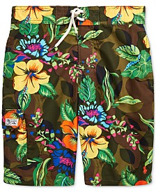 Polo Ralph Lauren Big Boys Kailua Floral-Print Swim Trunks